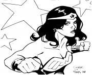 Super heroine wonder woman par david hahn and steve liber dc comics dessin à colorier