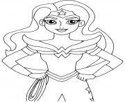 Super heroine wonder woman dessin à colorier