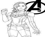 Super heroine captain marvel by jamiefayx dessin à colorier