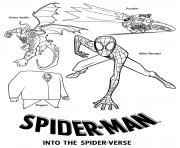 Spider Man Into the Spider Verse Villains dessin à colorier