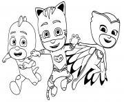 coloriez pyjamasques pjmasks sacha yoyo amaya bibou greg gluglu dessin à colorier