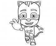 coloriez Pyjamasques Catboy Connor dessin à colorier