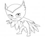 Pyjamasques Owlette Amaya dessin à colorier