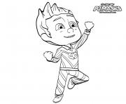 Pyjamasques Catboy heros en Pajama coloriez dessin à colorier