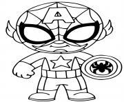 coloriez fusion de captain america et spider man dessin à colorier