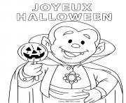 joyeux halloween vampire dracula gentil dessin à colorier