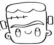 frankenstein kawaii dessin halloween facile dessin à colorier