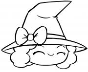 sorciere kawaii dessin facile halloween dessin à colorier