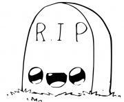 tombe dessin halloween facile dessin à colorier