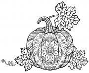 mandala halloween citrouilles difficile pour adulte dessin à colorier