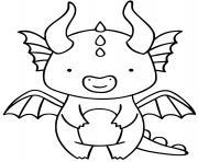 dragon facile maternelle simple pour enfant dessin à colorier