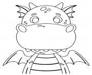 dragon facile cp dessin à colorier