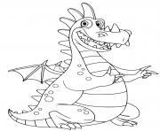 dragon facile amusant et rigolo dessin à colorier