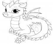 dragonne dragon femelle dessin à colorier