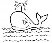 baleine a bosse adore la mer dessin à colorier