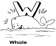 baleine en anglais whale dessin à colorier