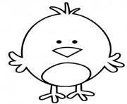 poussin petit oiseau dessin à colorier