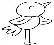 petit oiseau chante dessin à colorier