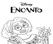 Mirabel madrigal Encanto Disney dessin à colorier