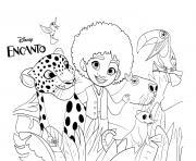 Encanto animals dessin à colorier