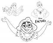 Mirabel et ses soeurs Encanto dessin à colorier