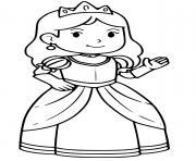 belle princesse barbie cp dessin à colorier