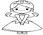 princesse facile jeune fille dessin à colorier
