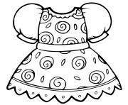 robe de princesse motif cercles dessin à colorier