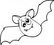 coloriage bebe chauve souris perdu dans les airs